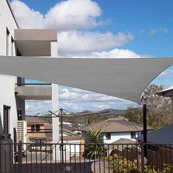 Shade&Beyond Sun Shade Sail Rectangle 8'x10′ UV Block for Patio Yard Light Grey