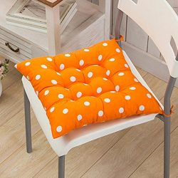 Tiean Durable Polka Dot Chair Cushion Garden Dining Home Office Seat Soft Pad 9 Colors (A)