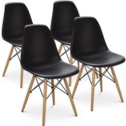 Giantex Set of 4 Mid Century Modern Style DSW Dining Chair Side Wood Assembled Legs for Kitchen, ...