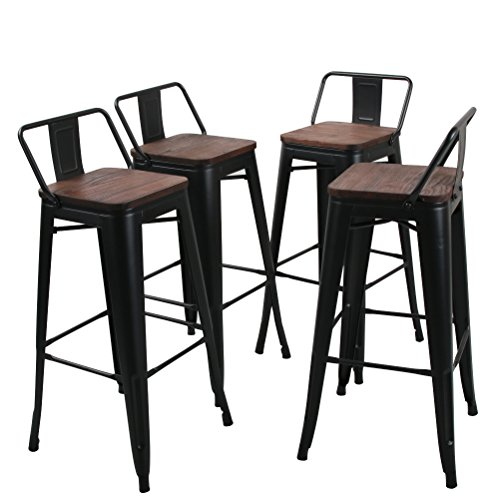 Tongli Metal Barstools Set Industrial Counter Height
