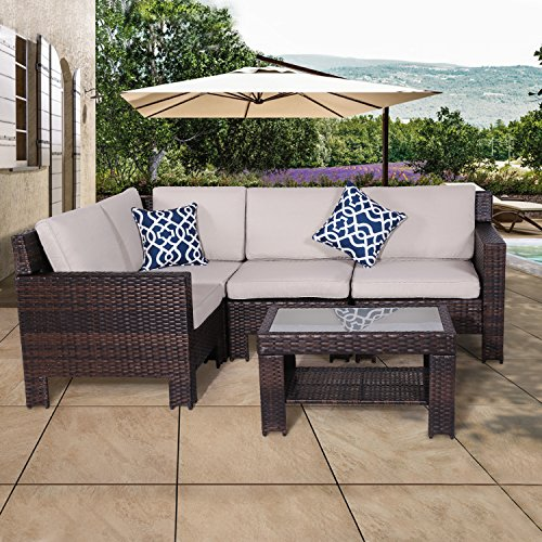 Diensday Patio Outdoor Furniture Sectional Conversation