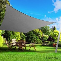Belle Dura Light Grey 10′ x 13′ Sun Shade Sails Rectangle UV Block for Shelter Canop ...
