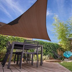 Belle Dura Brown 12′ x 12′ x 12′ Triangle Sun Shade Sails UV Block for Shelter ...