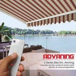 ADVANING Electric Luxury L Series, 12'x10′, Semi-Cassette Top Quality Window/Door Cl ...