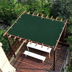 Shatex 10x12ft Dark Green New Design Outdoor Waterproof Sun Shade Privacy Panel with Grommets fo ...