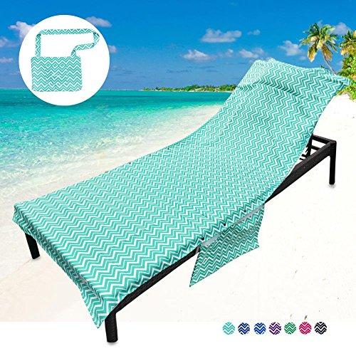 Youlerbu Beach Chair Cover Patio Chaise Lounge Chair