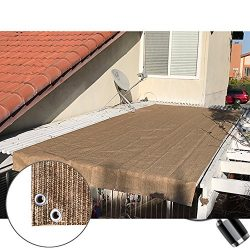 Alion Home Pergola Shade Cover Sunblock Patio Canopy HDPE Permeable Cloth with Grommets (10&#824 ...