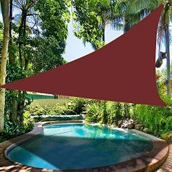 Belle Dura Brick Red 12′ x 12′ x 12′ Triangle Sun Shade Sails UV Block for She ...