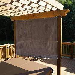 Alion Home Sun Shade Panel Privacy Screen with Grommets on 4 Sides for Outdoor, Patio, Awning, W ...
