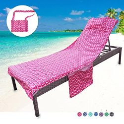 Youlerbu Beach Chair Cover, Patio Chaise Lounge Chair Covers for Pool Outdoor Lounger Chairs and ...