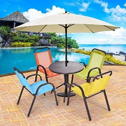 MD Group Kids Table and Chairs Play Set Patio Dining Indoor Colorful Fiber & Steel 5-Pcs