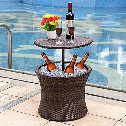 166 Best Outdoor Patio Pool Images On Pinterest: Oakville Cool Bar Adjustable Rattan Wicker Outdoor Patio