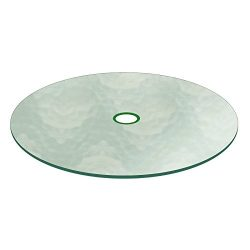 Aquatex Patio Glass Table Top 48″ Round 3/16″ Thick Flat Tempered w/ 2-1/4″ Ho ...