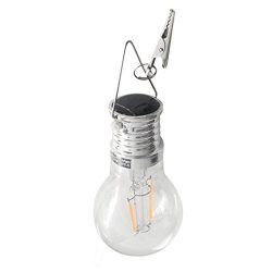 LiPing LED Waterproof Solar Rotatable Outdoor Garden Camping Hanging String Light Warm White- So ...
