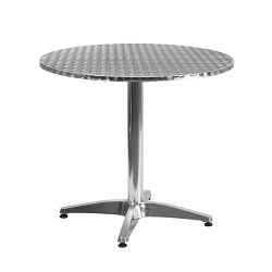 "Flash Furniture 31.5"" Round Aluminum Indoor-Outdoor Table with Base"