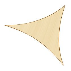 Sunlax 20′ x 20′ x 20′ Sand Color Triangle UV Block Sun Shade Sail Canopy for  ...