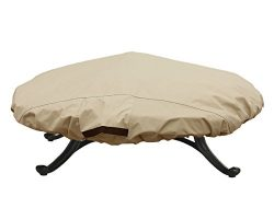 Porch Shield 100% Waterproof Round 600D Heavy Duty Patio Fire Pit/Table Cover (Up to 44″ D ...