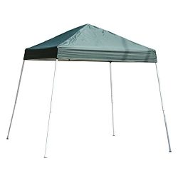 Outsunny 10′ x 10′ Slant Leg Pop Up Canopy Tent – Green