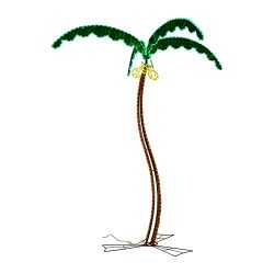 Green LongLife Decorative LED Palm Tree (7 Feet, Palm Tree With Coconuts)
