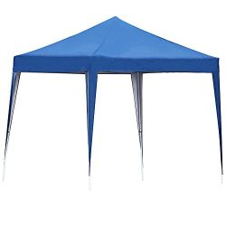 S&Cortile Outdoor 10' x 10' Easy Pop Up Canopy Tent Portable Shade Instant Folding with Carr ...