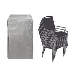 Patio Stackable Chairs Cover Patio Chair Covers Waterproof Durable Grey 26″ L x 34″  ...