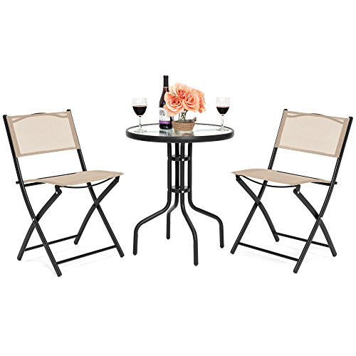 Best Choice Products 3 Piece Patio Bistro Dining Furniture