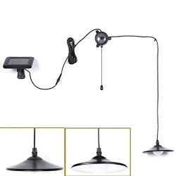 Solar Lights,Kyson Solar Powered Led Shed Light with Remote Control and Pull Cord for Indoor Out ...