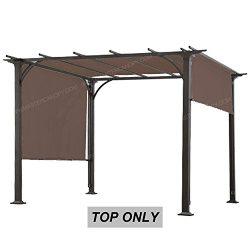 "ABCCANOPY Universal Doubleton Steel Pergola Replacement Cover for Pergola Structures 80""x  ..."