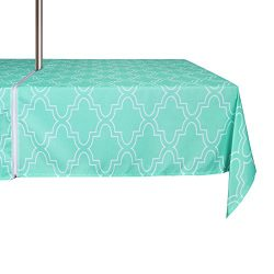 ColorBird Elegant Moroccan Outdoor Tablecloth Waterproof Spillproof Polyester Fabric Table Cover ...