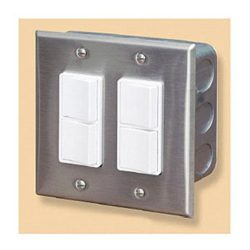 Infratech 14 4305 Accessory – Dual Duplex Switch Wall Plate & Gang Box 20 Amp Per Pole ...