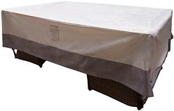Reusable Revolution 128″ x 84″ XL Patio Furniture Cover – Water Resistant Rect ...