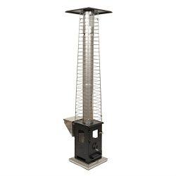 Wood Pellet Outdoor Patio Heater – Propane Alternative, Portable, No Smoke, 60,000 BTU's,  ...