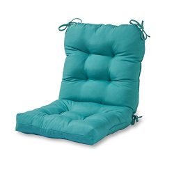 Greendale Home Fashions Outdoor Seat/Back Chair Cushion, Teal