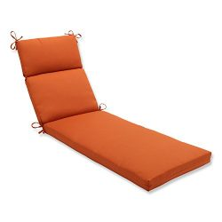 Pillow Perfect Indoor/Outdoor Cinnabar Chaise Lounge Cushion, Burnt Orange