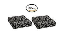 PACK OF 2 – Better Homes and Gardens Outdoor Patio Deep Seat Bottom Cushion with Welt, Bla ...