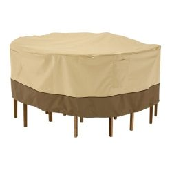 Classic Accessories Veranda Tall Round Patio Table & Chairs Cover, Medium