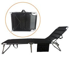 SPORT BEATS Beach Lounge Chair Aluminum Folding 4 Reclining Positions Chaise Lounge,Portable Fol ...