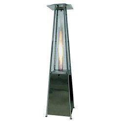 Palm Springs Pyramid Quartz Glass Tube Flame Patio Heater – Stainless Steel