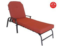 Kozyard Maya Outdoor Chaise Lounge Weather & Rust Resistant Steel Chair with Polyester Fabri ...