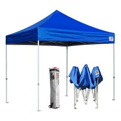 Eurmax 10 x 10FT Ez Pop Up Canopy Tent Commercial Instant Shelter + Roller Bag (Royal Blue)