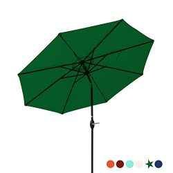 Patio Umbrella 9 Ft Aluminum Outdoor Table Market Umbrellas With Push Button Tilt and Crank, Saf ...
