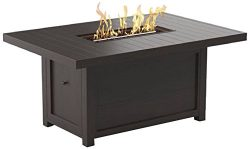 Signature Design Ashley Furniture Cordova Reef Outdoor Fire Pit Table – Rectangular &#8211 ...