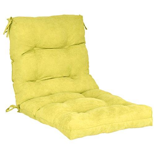 Giantex Patio High Back Chair Cushion Tufted Pillow Indoor