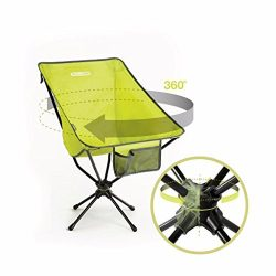Compaclite Patented Deluxe 360 Swivel Steel Camping Portable Chair for Outdoor Camping / Picnic  ...
