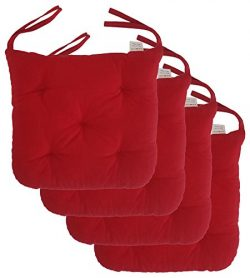"""Cottone 100% Cotton Chair Pads w/ Ties (Set of 4) 