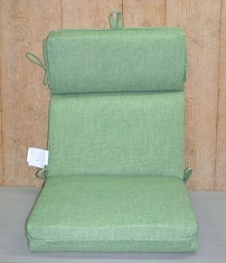 (4) Outdoor Patio Hi-Back Chair Cushions ~ Kiwi Texture Green ~ 21 x 44 x 4NEW SHIPPING INCLUDED