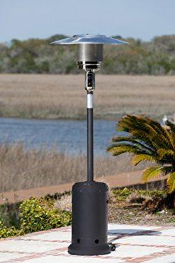 Fire Sense 46,000 BTU [XL-Series] Matte-Black Patio Heater with Wheels (Propane)