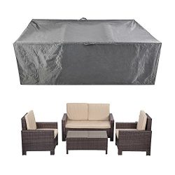 Patio Furniture Set Covers Waterproof Outdoor Table and Chair Covers Durable Heavy Duty 88″ ...