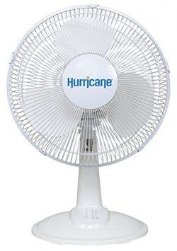 Hurricane Desk Fan – 12 Inch | Classic Series | Quiet Desk Fan with 90 Degree Oscillation, ...