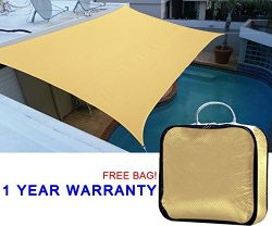 Quictent 10' x 15' 185G HDPE Rectangle Sun Sail Shade Canopy Awning kit Patio UV Block Top Outdo ...